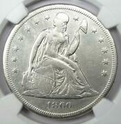 1860-o Seated Liberty Silver Dollar 1 - Certified Ngc Vf Detail - Rare Coin