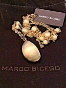 New Marco Bicego 18k Yellow Gold Siviglia Beaded Drop 31andrdquo Long Necklace