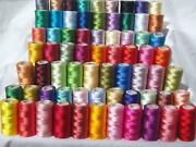 Natural Spools Of Silk Thread,indian Art Silk Embroidery Threads For Machine Use