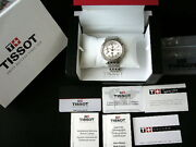 Tissot Automatic Date Chronograph Watch Valjoux 7750 Silver Ss With Box And Papers
