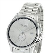 G-timeless Menand039s Watch Ya126320 Automatic-winding Ss Silver Dial Band