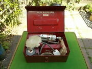 Vintage 1/4 Inch Black And Decker Hu 1004 Home Utility Electric Drill Kit And Stand