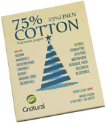 75 Cotton 25 Linen Paper85gsm Inkjet Printing Paper8.5x11 Ivory Color