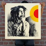 Obey Sun Is Shining Bob Marley Signed Numbered Shepard Fairey Le 500