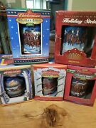 2000 And03901 02 And03903 05 Budweiser Holiday Stein Set- In Original Boxes