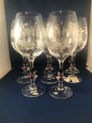 8 Snowman Stemmed Wine Glasses 9 Tall New With Stickers Gates Ware