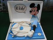 Rare Vintage Walt Disney Production Mickey Mouse Sears Record Player