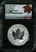 2018 Canada 20 Silver Maple Leaf 30th Anniversary First Day Of Issue Ngc Pf70