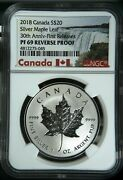 2018 Canada 20 Silver Maple Leaf 30th Anniversary First Releases Ngc Pf69 Rp