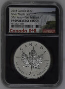 2018 Canada 20 Silver Maple Leaf 30th Anniversary - First Releases Ngc Pf69