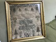Antique Signed And Dated 1832 English Needlework School Girl Sampler As Is