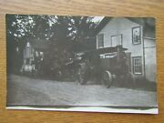 Tractor And Thresher Parked In Shade 1907