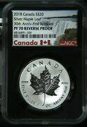 2018 Canada 20 Silver Maple Leaf 30th Anniversary - First Releases Ngc Pf70