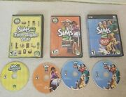 Sims 2 Bundle Teen Style Stuff-open For Business-pets Pc Cd-rom Games And Manuals