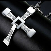Fast And Furious Toretto's Cross Pendant Necklace - Titanium Steel Jewellery