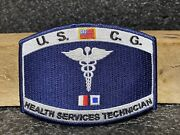 Uscg Coast Guard Health Services Technician Embroidered Patch Iron On