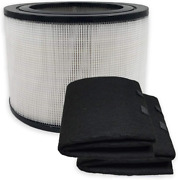 Pureburg Replacement Hepa Filter And 2 Wrapping Carbon Pre-filters For Honeywell