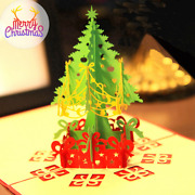 100x 3d Pop Up Christmas Card New Year Handmade Gift Xmas Greeting Holiday Cards