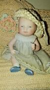 Antique Bisque German Bye-lo Baby Doll Putnam 4 Blue Eyes Boy Shoes Jointed