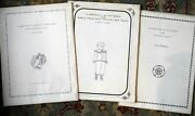 Lot Of 3 Clothing Patterns For Antique Doll Bonnets Evelyn Ackerman 1974 P871