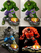 1/4 Scale The Incredible Hulk Resin Statue Two Heads In Stock 60 Cm High