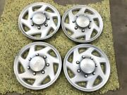 98-19 Ford E350 Van Used Set Of 4 16 Wheel Hub Caps Covers Surface Scratches