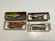 Lot Of 4 Lands Mirrolure Minnow Bass Fishing Lures In Box Lot 1