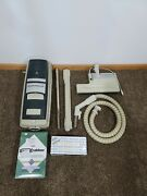 Vintage Electrolux Le Canister Vacuum Cleaner W/ Hose 14 Bags Filter Extension