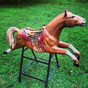 1950s Davy Crocket Coin-op Mounted Kiddie Store Riding Horse No Guts