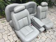 1998-2002 Lincoln Town Car Front And Back Seats W/ Center Console Gray