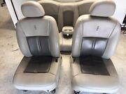 2003-2011 Lincoln Town Car Front And Back Seats Gray Stone