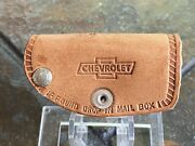 Vintage Chevy Chevrolet Dealership Leather Key Chain Case Fob Newport Ky Nos