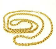 Necklace Jersey Belcher Yellow Gold Solid 18k Vintage Years 60 Made In Italy
