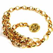 Chain Belt Coco Mark Gold Metal Material Women 98859a