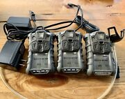 3 X Msa Altair 4x, 4 Head Multi-gas Monitor Detector Calibrated With Chargers