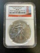 2012 S Silver Eagle Ngc Ms-69 - Uncirculated - Silver Ase - Certified Slab -1