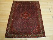 4'x5' Very Unique Persian Abc Collection Handmade-knotted Wool Rug 586218