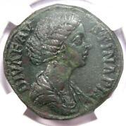 Faustina Junior Ae Sestertius Copper Coin 147-175 Ad - Certified Ngc Choice Xf