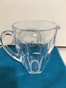 Vintage Heavy Clear Glass Crown Royal Whiskey Bar Pitcher