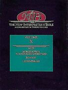New Interpreter's Bible Acts Introduction To Epistolary By Robert W. Wall And J.