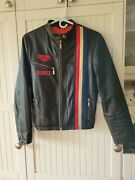 Tag Heuer Grand Prix Leather Jacket Racing Steve Mcqueen Ladies Womenand039s Med M