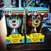 Vintage Tom And Jerry Water Gun Set By Marx Toys 1973 - Mib Box - Super Rare
