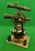 K And E Keuffel And Esser 5081 1/2 Engineers Mining Transit W/ Aux. Scope Fine Cond