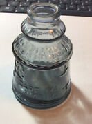 Unusual Wheaton Cape May Bitters Glass Bottle Smokey Blue Color