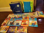Leappad Leap Frog Learning System Lot With Carrying Case, System, 13 Book Sets +