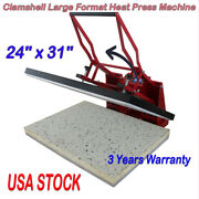 24 X 31 Clamshell Manual Large Format Heat Press Machine T-shirts Sublimation