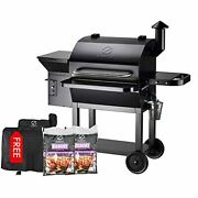Z Grills Wood Pellet Grill And Smoker 1000 Sq In Cooking Area 8-in-1 Outdoor Gri