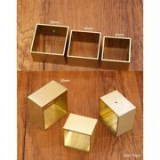 4 Pcs Square Brass Tip Cap For Mid Century Modern Table Leg And Sofa Foot Cover