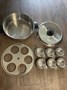 Ekco Prudential Ware Stainless Steel 6qt Stock Pot W/ 6 Cup Egg Poacher And Lid