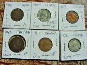 Lot Of Canadian Coins Including 1923,1942, 1944 5cent Unc Plus 43 Others ,see Ph